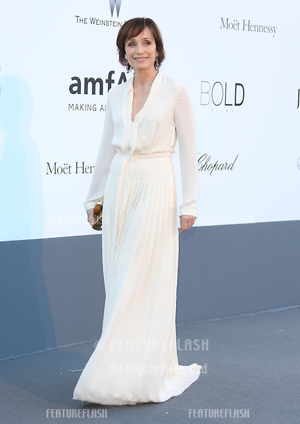 Kristin Scott Thomas at the 66th Cannes Film Festival - amfAR's 20th Annual Cinema Against AIDS - Arrivals, Cannes, France. 23/05/2013 Picture by: Henry Harris / Featureflash