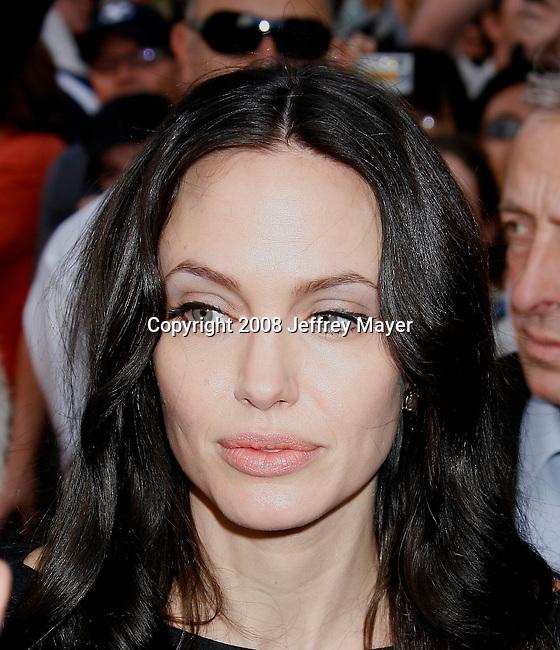 HOLLYWOOD, CA. - November 09: Actress Angelina Jolie arrives at the Kung Fu Panda DVD Release at Grauman's Chinese Theatre on November 9, 2008 in Hollywood, California.