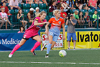 Rochester, NY - Saturday Aug. 27, 2016: Samantha Mewis, Denise O'Sullivan during a regular season National Women's Soccer League (NWSL) match between the Western New York Flash and the Houston Dash at Rochester Rhinos Stadium.