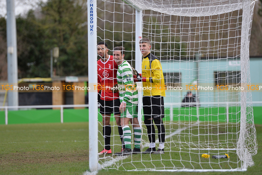 Bracknell corner during Waltham Abbey vs Bracknell Town, Bostik League South Central Division Football at Capershotts on 9th February 2019