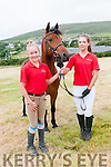Zoe Reichenbach and Julie Popovich with Lassie from the Sea View Equestrian Centre in Ballinloghig, Ballydavid, at the West Kerry Agricultural Show in Dingle on Sunday afternoon.
