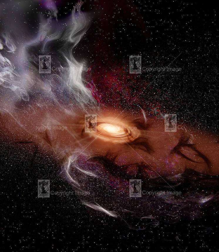 9d6453542 Proto solar system in remnants of solar nebula.jpg   RON MILLER/BLACK CAT  STUDIOS