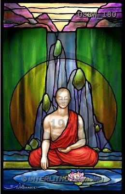 Randy, STILL LIFE STILLLEBEN, NATURALEZA MORTA, paintings+++++SG1-Praying-Monk,USRW180,#i#