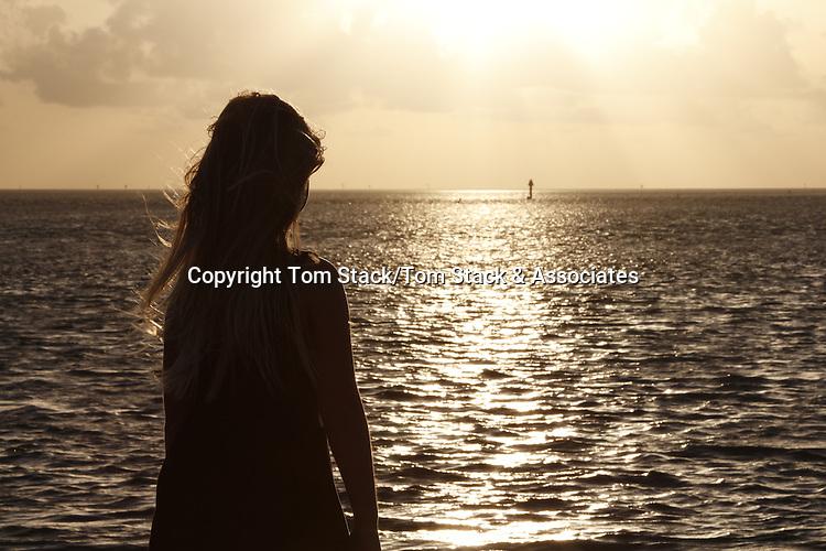 Young girl at daybreak, Florida