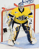 Joe Cannata (Merrimack - 35) - The University of Notre Dame Fighting Irish defeated the Merrimack College Warriors 4-3 in overtime in their NCAA Northeast Regional Semi-Final on Saturday, March 26, 2011, at Verizon Wireless Arena in Manchester, New Hampshire.