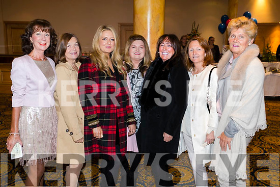 Deirdre Durran, Evelyn Stimpfig, Blondie Horan, Dolores Johnson, Rita Horan, Pauline Barrett and Pauline Burke-Crean, enjoying the Dunnes Stores and Paul Galvin Shelby Autumn Winter Fashion Show, held at the Brandon Hotel, Tralee on Friday night last.