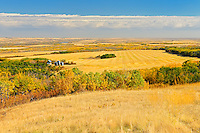 Canadian prairie from a high vantage point<br /> Baljennie<br /> Saskatchewan<br /> Canada