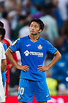Gaku Shibasaki of Getafe CF looks on after the La Liga 2018-19 match between Real Madrid and Getafe CF at Estadio Santiago Bernabeu on August 19 2018 in Madrid, Spain. Photo by Diego Souto / Power Sport Images
