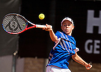 Netherlands, Rotterdam August 08, 2015, Tennis,  National Junior Championships, NJK, TV Victoria, Lodewijk Weststrate<br /> Photo: Tennisimages/Henk Koster