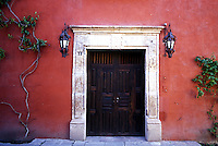 entrance to colonial period house, San Miguel de Allende, Guanajuato, Mexico 16-9-05