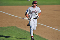 1 June 2008:  Stanford Cardinal Toby Gerhart (24) heads home after hitting a solo home run during Stanford's 13-1 win over the Pepperdine Waves in game 6 of the NCAA Stanford Regional at Klein Field at Sunken Diamond in Stanford, CA.