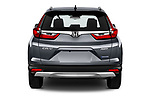 Straight rear view of 2020 Honda CR-V-Hybrid Executive-4wd 5 Door SUV Rear View  stock images