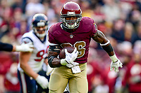 Landover, MD - November 18, 2018: Washington Redskins running back Adrian Peterson (26) breaks free for his second touchdown on the day during second half action of game between the Houston Texans and the Washington Redskins at FedEx Field in Landover, MD. The Texans defeated the Redskins 23-21. (Photo by Phillip Peters/Media Images International)