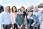 L-R Tom Horan, Liz&David Lane, George Guiney, Paul Horan, Mark Lane&David Horan, at the rally, in Killarney last Sunday.