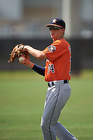 Houston Astros Johnny Sewald (74) warms up before an instructional league game against the Atlanta Braves on October 1, 2015 at the Osceola County Complex in Kissimmee, Florida.  (Mike Janes/Four Seam Images)