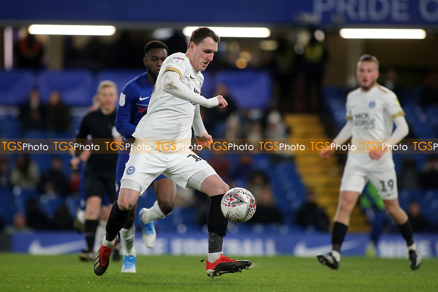 Callum Cooke of Peterborough in action during Chelsea Under-21 vs Peterborough United, Checkatrade Trophy Football at Stamford Bridge on 9th January 2019