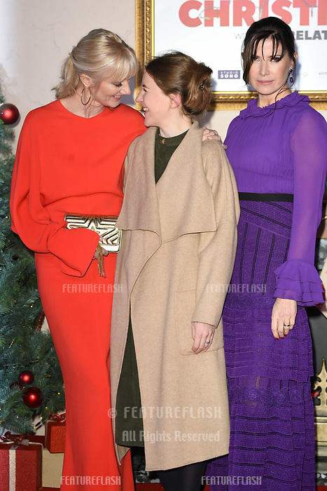 LONDON, UK. November 21, 2018: Joely Richardson, Gemma Whelan &amp; Ronni Ancona at the &quot;Surviving Christmas with the Relatives&quot; premiere at the Vue Leicester Square, London.<br /> Picture: Steve Vas/Featureflash