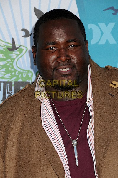 QUINTON AARON.Teen Choice Awards 2010 - Arrivals held at Universal Studios Gibson Amphitheatre, Universal City, California, USA..August 8th, 2010 .headshot portrait  red brown goatee facial hair silver microphone necklace .CAP/ADM/BP.©Byron Purvis/AdMedia/Capital Pictures.
