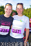 Deirdre McCabe and Tanya Maher feeling relaxed at the start of the Maxi Marathon held in Killarney on Saturday...