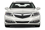 Car photography straight front view of a 2016-2017 Acura RLX Sport Hybrid 4 Door Sedan