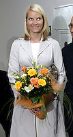 Crown Prince Haakon & Crown Princess Mette-Marit of Norway's three-day visit to Poland..Visit to the Warsaw University of Technology Business School.