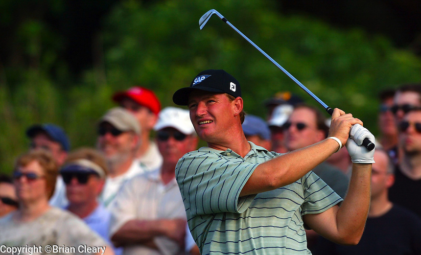 Ernie Els in action at the Bay Hill Invitational at Arnold Palmer's Bay Hill Club & Lodge in Orlando, FL in March 2003. (Photo by Brian Cleary / www.bcpix.com)