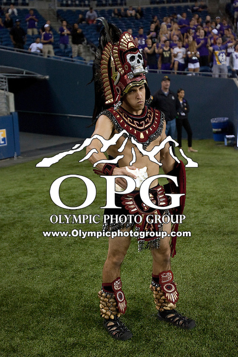 Sept 01, 2012:  San Diego State mascot Monty Montezuma during the game against Washington.  Washington defeated San Diego State 21-12 at CenturyLink Field in Seattle, Washington...