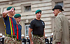 02.08.2017, London; UK: DUKE OF EDINBURGH SIGNS-OFF<br /> Prince Philip receives a Royal Salute from the Royal Marines after 64 years as their Captain-General,as members of the Corps family marked the 96-year-old royal's last official engagement.<br /> His association with the Royal Marines dates back 64 years to June 2 1953, upon Prince Philip&rsquo;s appointment as Captain General Royal Marines in succession to the late King George VI.<br /> Despite the pouring rain the Duke of Edinburgh was in cheerful mood, as The Captain General's Parade brought an end to his official engagements. <br /> Mandatory Credit Photo: &copy;MoD/NEWSPIX INTERNATIONAL<br /> <br /> IMMEDIATE CONFIRMATION OF USAGE REQUIRED:<br /> Newspix International, 31 Chinnery Hill, Bishop's Stortford, ENGLAND CM23 3PS<br /> Tel:+441279 324672  ; Fax: +441279656877<br /> Mobile:  07775681153<br /> e-mail: info@newspixinternational.co.uk<br /> *All fees payable to Newspix International*