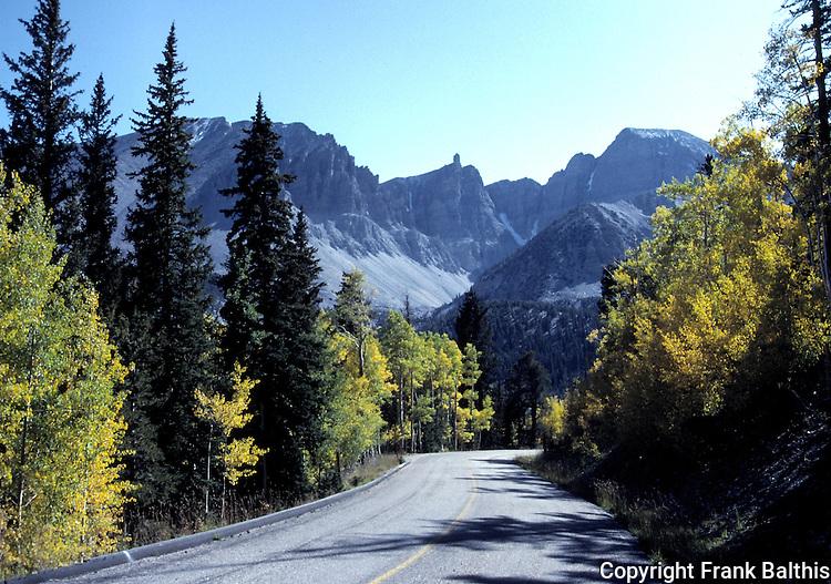Wheeler Peak in October,   FB-S179 Back faded photo for 4x6 postcard