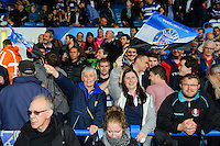 A general view of Bath supporters in the crowd. Amlin Challenge Cup Final, between Bath Rugby and Northampton Saints on May 23, 2014 at the Cardiff Arms Park in Cardiff, Wales. Photo by: Rogan Thomson / Onside Images