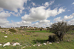 Israel, the Shephelah. Moshav Tzafririm as seen from Hurbat Midras
