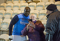 during the Sky Bet League 2 match between Colchester United and Wycombe Wanderers at the Weston Homes Community Stadium, Colchester, England on 21 February 2017. Photo by Andy Rowland / PRiME Media Images.