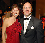 Dan Rosier and Kristin Jensen at the American Heart Association Heart Ball at the Hilton Americas Houston Saturday Feb 07, 2009.(Dave Rossman/For the Chronicle)