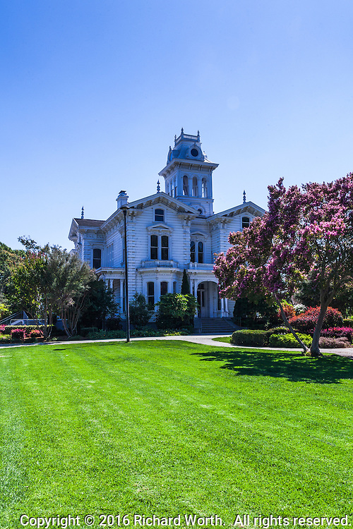 The Meek Mansion, dating from 1869, is the centerpiece of Meek Estate Park in Hayward, California.