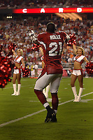 Aug. 31, 2006; Glendale, AZ, USA; Arizona Cardinals cornerback (21) Antrel Rolle against the Denver Broncos at Cardinals Stadium in Glendale, AZ. Mandatory Credit: Mark J. Rebilas