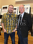 Current Chairperson Richard Hatch and first Chairperson Derek Tuite at the Mid-Louth Camera Club's 20th anniversary exhibition in St. Brigid's Hall Dunleer. Photo:Colin Bell/pressphotos.ie