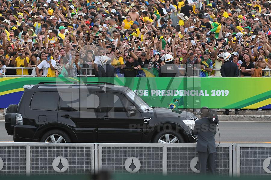 BRASÍLIA, DF, 01.01.2019 – POSSE-BOLSONARO – O presidente eleito Jair Bolsonaro chegando para sua posse como Presidente do Brasil, na tarde desta terça-feira, 01, no Palácio do Planalto em Brasília. (Foto: Ricardo Botelho/Brazil Photo Press)