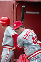SAN FRANCISCO, CA - Manager Lou Piniella of the Cincinnati Reds watches his team during a game against the San Francisco Giants at Candlestick Park in San Francisco, California in 1990. Photo by Brad Mangin