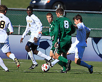 Thursday November 12th, 2010. The University of Michigan Men's Soccer team defeats Michigan State University in the first round of the 2010 Big Ten Men's Soccer Tournament being hosted by Penn State University with a score of 2-1.
