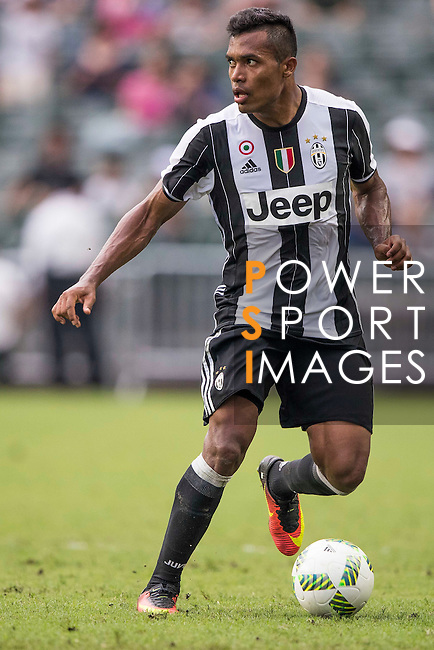 Juventus' player Alex Sandro in action during the South China vs Juventus match of the AET International Challenge Cup on 30 July 2016 at Hong Kong Stadium, in Hong Kong, China.  Photo by Marcio Machado / Power Sport Images