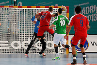 15.01.2013 World Championshio Handball. Match between Algeria vs Egypt (24-24) at the stadium La Caja Magica. The picture show Mohamed Mamdouh Hashem Shabib (Line player of Egypt)