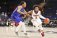 Washington, DC - December 22, 2018: Howard Bison guard RJ Cole (2) drives to the basket during the DC Hoops Fest between Hampton and Howard at  Entertainment and Sports Arena in Washington, DC.   (Photo by Elliott Brown/Media Images International)