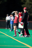 STANFORD, CA - November 4, 2011: Courtney Haldeman during the Stanford vs. Davidson in the second round of  the  NorPac Championship at the Varsity Turf on the Stanford campus Friday afternoon.<br /> <br /> Stanford defeated Davidson 7-2.