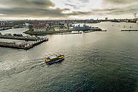 016 190110 Dronebilleder af Den lille  Havfrue, Kastellet, Amager Bakke, Papir&oslash;en, Skuespilhuset, Amalienborg og Inderhavnsbroen.<br /> Foto: Jens Panduro