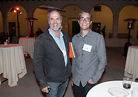 Joe Rohde '77 and Aleem Hossain<br /> Music-MAC Panel Discussion: United Skates<br /> From Queen Latifah, Salt-N-Pepa and Naughty by Nature in New York/New Jersey to Dr. Dre and Ice Cube in Los Angeles, roller rinks have long been a mecca for music and creativity. With an average of three rinks closing a month, UNITED SKATES takes a deep dive into the vibrant and celebratory world of African American roller skating.<br /> Director Dyana Winkler and composer/Oxy instructor Jongnic Bontemps presented an exclusive partial screening of the film in advance of its February HBO premiere. Examining the interplay between film and music in storytelling, this panel discussion was moderated by Music and MAC Department Professors Adam Schoenberg and Broderick Fox. Mixer in the Booth Hall courtyard and panel in Booth Hall Room 204, Jan. 29, 2019.<br /> (Photo by Marc Campos, Occidental College Photographer)