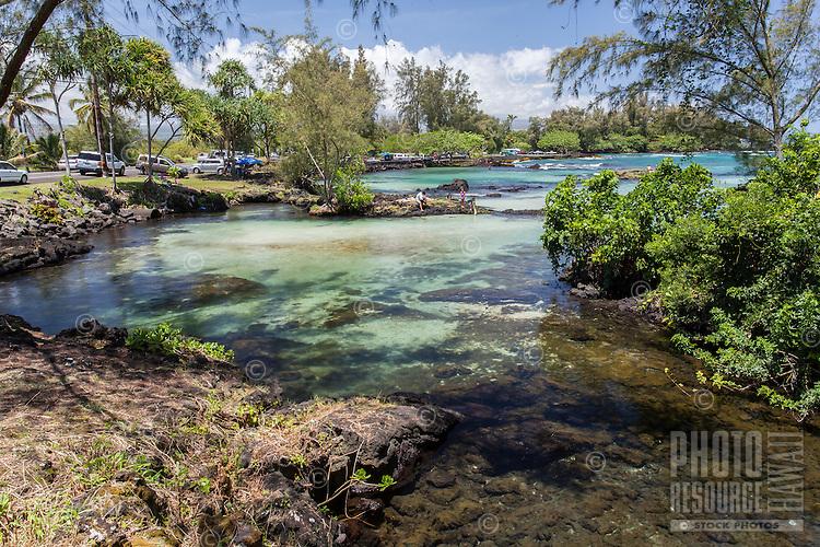 Tide pools at Richardson Beach Park, Hilo, Big Island.