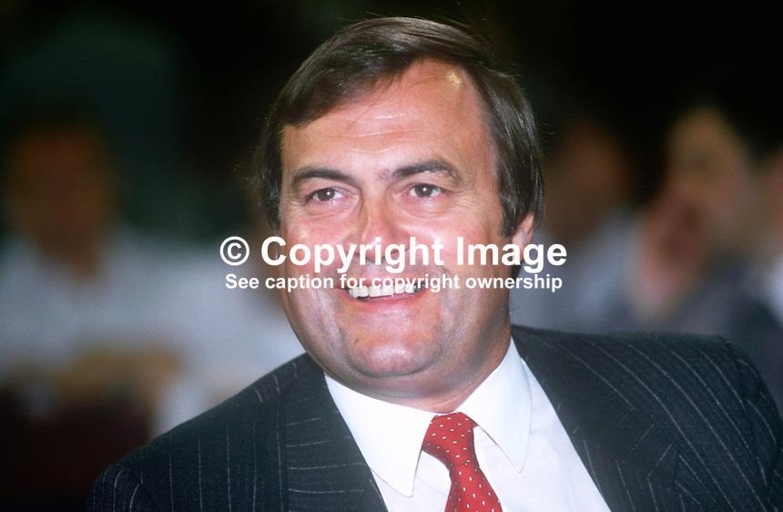 John Prescott, MP, Labour Party, UK, annual conference, September 1986, 19860909JP2<br />