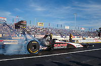 Jun 10, 2016; Englishtown, NJ, USA; NHRA top fuel driver Steve Torrence during qualifying for the Summernationals at Old Bridge Township Raceway Park. Mandatory Credit: Mark J. Rebilas-USA TODAY Sports