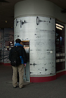 Visitor Displays at Johnston Ridge Observatory,  Mt. St. Helens National Volcanic Monument, Washington, US