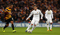 Pictured: (L-R) Nathan Doyle, Pablo Hernandez. Sunday 24 February 2013<br /> Re: Capital One Cup football final, Swansea v Bradford at the Wembley Stadium in London.